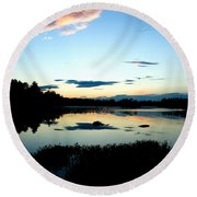 Sunset Pond Round Beach Towel