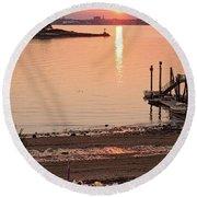 Sunset, Portland, Maine  -07817 Round Beach Towel
