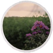 Sunset Purple  Round Beach Towel