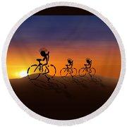 Sunset Riders Round Beach Towel