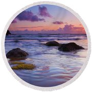 Sunset Ripples Round Beach Towel