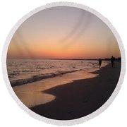 Sunset Run Round Beach Towel