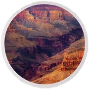Sunset Scar Round Beach Towel
