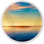 Sunset Seascape Island Round Beach Towel