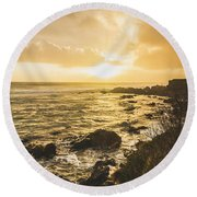 Sunset Seascape Round Beach Towel
