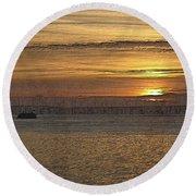 Sunset Serenade Round Beach Towel