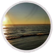 Sunset Serenity Round Beach Towel