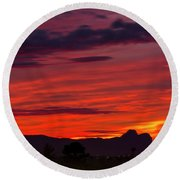 Sunset Silhouette H1816 Round Beach Towel