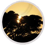 Sunset Silhouette II Round Beach Towel
