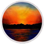 Sunset Sinai Round Beach Towel