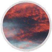Sunset Skies 052814c Round Beach Towel