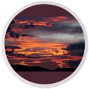 Sunset Skies 052814d Round Beach Towel