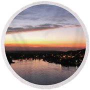 Sunset South Of The Border Round Beach Towel