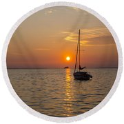 Sunset Southern Style Round Beach Towel