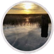 Sunset St Clair  Round Beach Towel