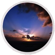 Sunset St. Thomas Round Beach Towel