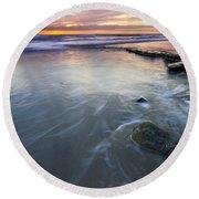 Sunset Storm Round Beach Towel