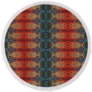 Sunset Strip Tiled Round Beach Towel