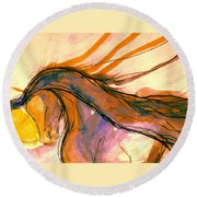 Sunset Submission Round Beach Towel