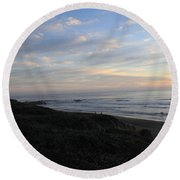 Sunset Surf Round Beach Towel