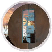 Sunset Thru Art Round Beach Towel