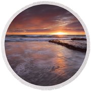 Sunset Tides Round Beach Towel
