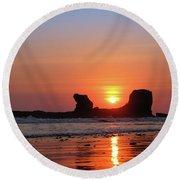 Sunset To Remeber  Round Beach Towel