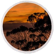 Sunset /torrey Pines Image 2 Round Beach Towel