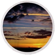 Sunset Vista Round Beach Towel