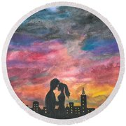 Sunset With You Round Beach Towel