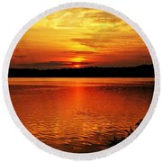 Sunset Xxiii Round Beach Towel