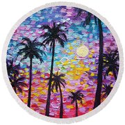 Sunsets In Florida Round Beach Towel
