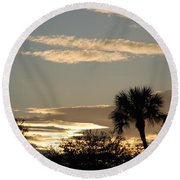 Sunsets In The West Round Beach Towel