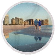 Sunsets On Marco Island Round Beach Towel
