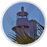 Sunshine At The Lighthouse Round Beach Towel