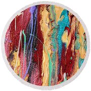 Sunshine Coast Colorful Abstract  Round Beach Towel