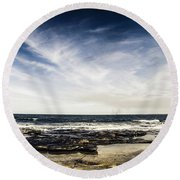 Sunshine Coast Landscape Round Beach Towel
