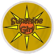 Sunshine Girl Round Beach Towel