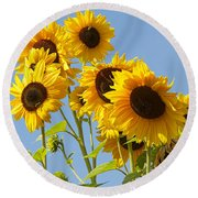 Sunshine Happy Round Beach Towel