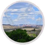 Sunshine On The Mountains - Verde Canyon Round Beach Towel