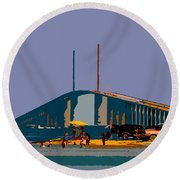 Sunshine Skyway Round Beach Towel