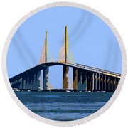 Sunshine Skyway Summer Round Beach Towel