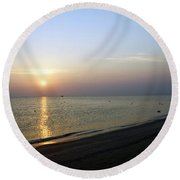 Sunshine1 Round Beach Towel