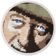 Suntan John Wayne Round Beach Towel