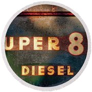 Super 88 Diesel Round Beach Towel