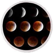 Super Blood Moon Eclipse Round Beach Towel