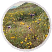Super Bloom Round Beach Towel