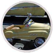 Super Buick Toy Car Round Beach Towel