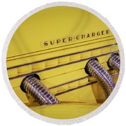 Super Charged Round Beach Towel