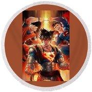 Super Heros  Round Beach Towel